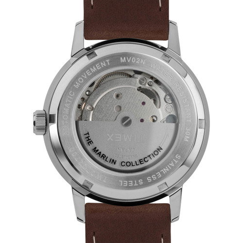 Timex Marlin 40mm Automatic Brown Silver (TW2T22700)
