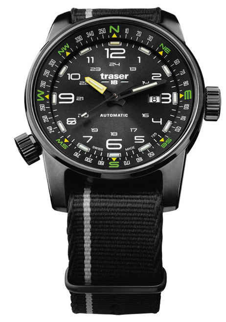 Traser P68 Pathfinder Automatic Black Green (107718)