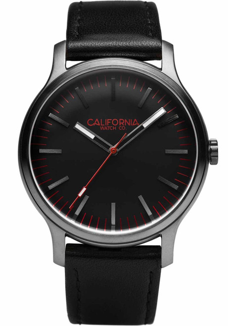 California Watch Co. Laguna Leather Gunmetal Red (LGM-2238-03L)