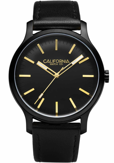 California Watch Co. Laguna Leather All Black Gold (LGM-3335-03L)