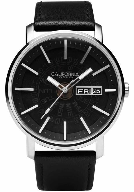 California Watch Co. Mojave Leather Silver Black Smoke (MJV-1139-03L)