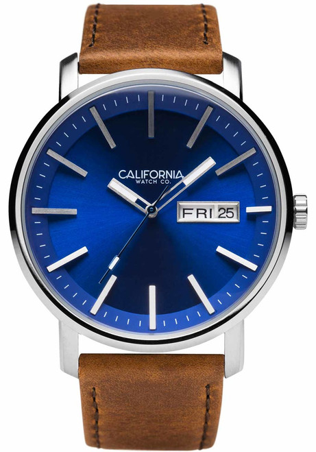 California Watch Co. Mojave Leather Brown Navy (MJV-1171-21L)