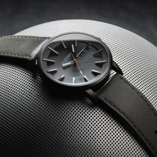 California Watch Co. Mojave Leather Gunmetal Orange (MJV-2229-10L)