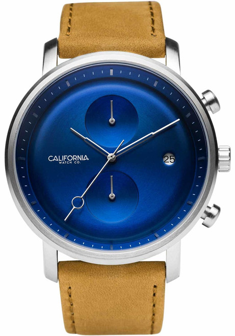 California Watch Co. Golden Gate Chrono Leather Sand Navy (GLG-1171-12L)