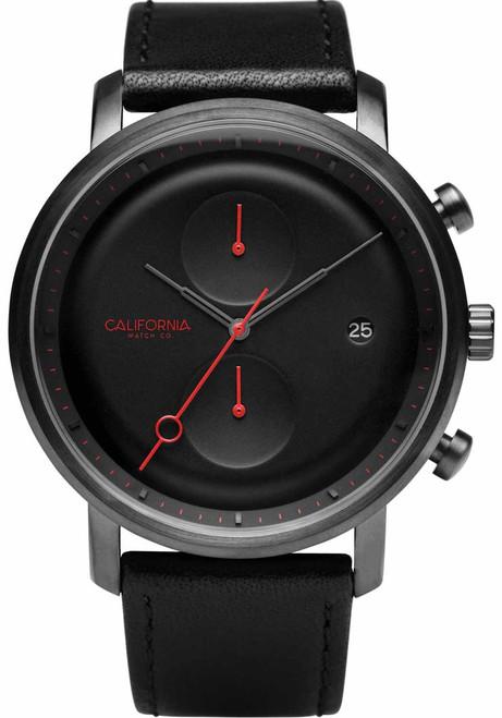 California Watch Co. Golden Gate Chrono Leather Gunmetal Red (GLG-2238-03L)