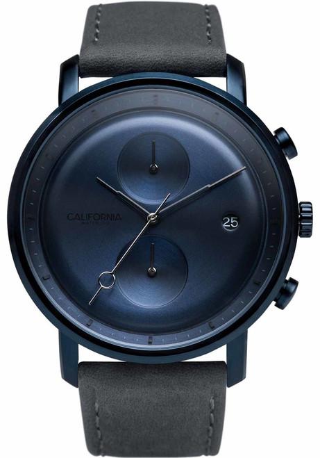 California Watch Co. Golden Gate Chrono Leather Deep Blue Gray (GLG-7772-11L)