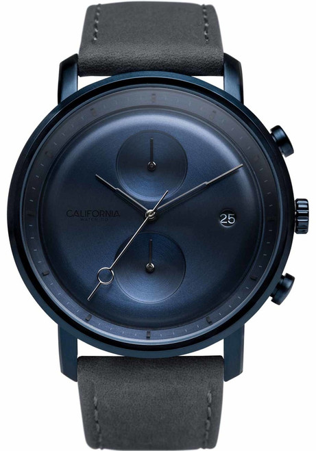 California Watch Co. Golden Gate Chrono Leather Deep Blue Gray (GLG-7772-11L)