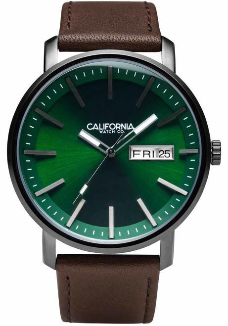 California Watch Co. Mojave Leather Dark Brown Green