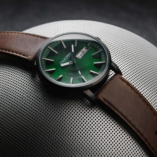 California Watch Co. Mojave Leather Dark Brown Green (MJV-2299-13L)