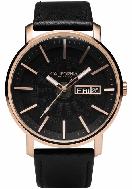 California Watch Co. Mojave Leather Rose Gold Smoke (MJV-4439-03L)