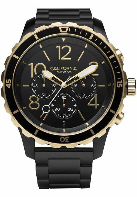 California Watch Co. Mavericks Chrono SS All Black Gold (MVK-3535-03B)
