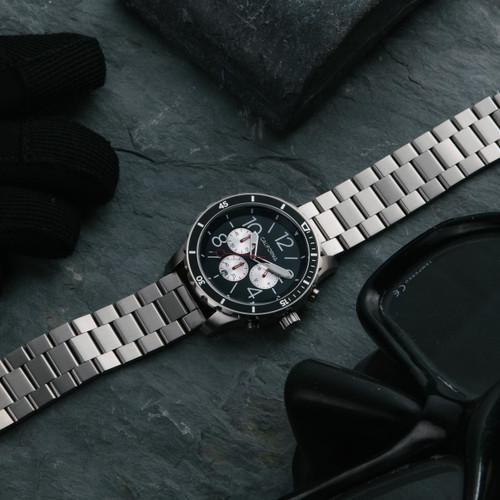 California Watch Co. Mavericks Chrono SS Silver Black (MVK-1131-01B)