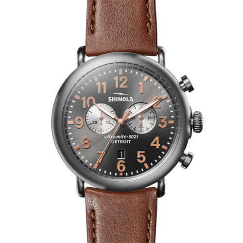 Shinola Runwell Chrono 47mm Brown Gunmetal (S0120109230)