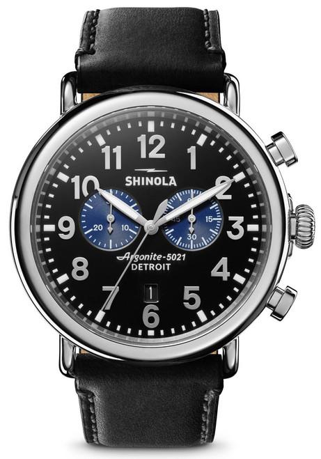 Shinola Runwell Chrono 47mm Black Silver (S0120109242)