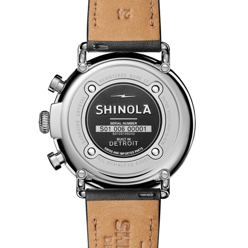 Shinola Runwell Chrono 47mm Black Silver (S0120109242)