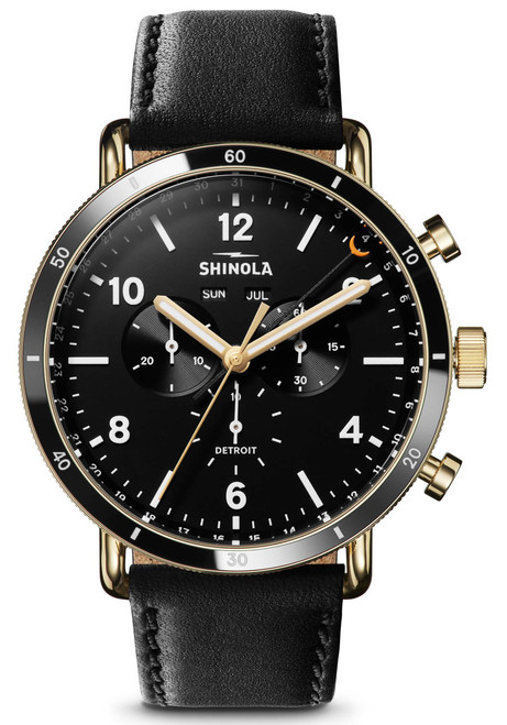 Shinola Canfield Sport 45mm Black Gold (S0120109248)