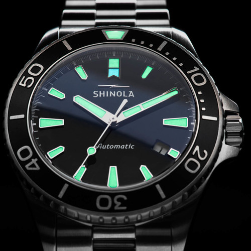 Shinola Lake Superior Monster Automatic 43mm Silver (S0120097178)