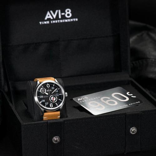 AVI-8 Flyboy Centenary Automatic AV-4060-01 Silver Black