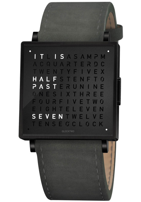 Qlocktwo W39mm Black Anthracite (QW39EN6BLLVANN)