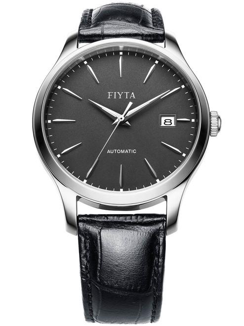 Fiyta Classic Sapphire Automatic Silver Black (WGA1010-WHB)
