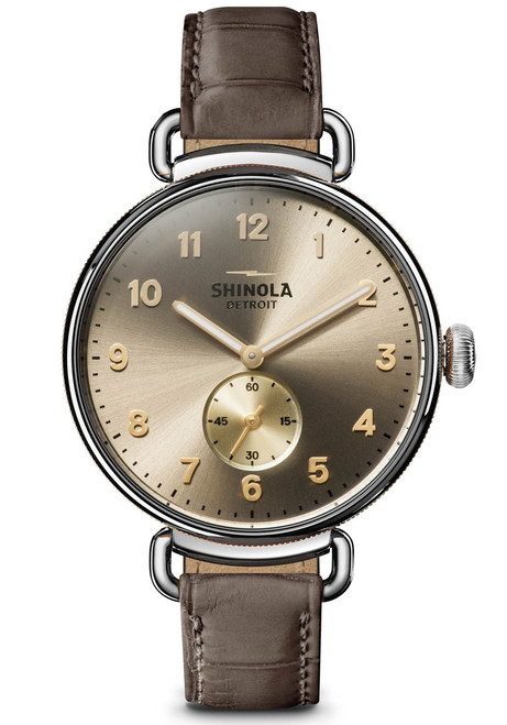 Shinola Canfield 38mm Polished Taupe (S0120121834)