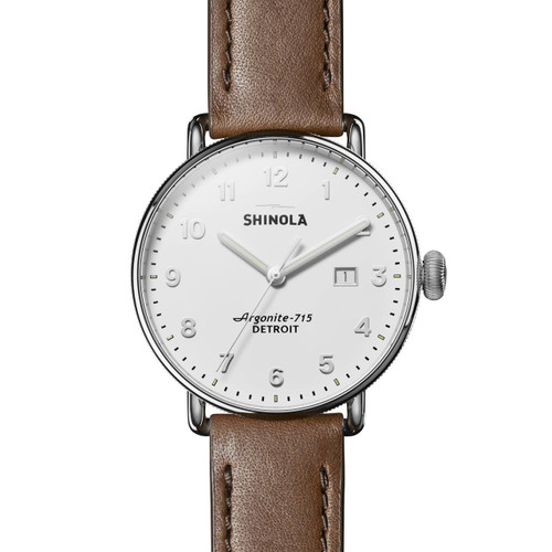 Shinola Canfield 43mm Silver Tan (S0120121829)