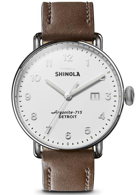 Shinola Canfield 43mm Silver Tan (S0120121829)
