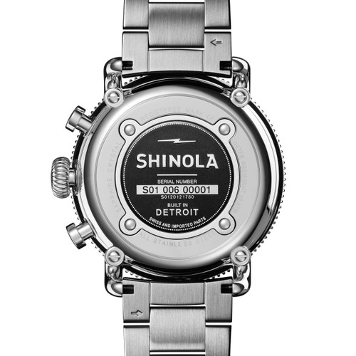 Shinola Runwell Sport Chrono 48mm Silver (S0120121780)