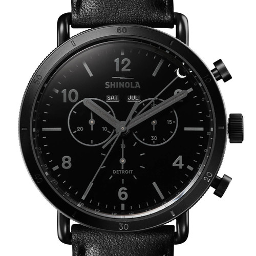Shinola Black Canfield Sport Chrono 45mm All Black (S0120121828)