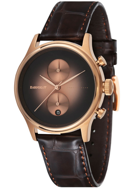 Thomas Earnshaw Bauer Fume Chronograph Rose Gold Brown (ES-8094-06)