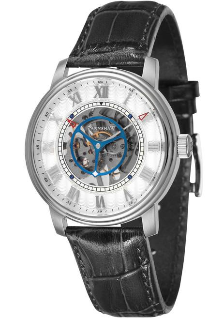 Thomas Earnshaw Westminster Skeleton Hand Wind Silver Black (ES-8096-01)