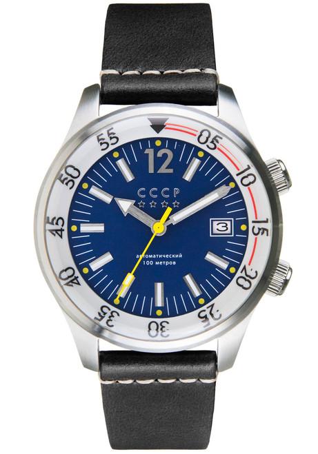 CCCP Black Sea Automatic Silver Black Blue (CP-7043-02)