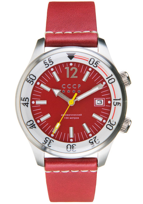 CCCP Black Sea Automatic Silver Red (CP-7043-03)