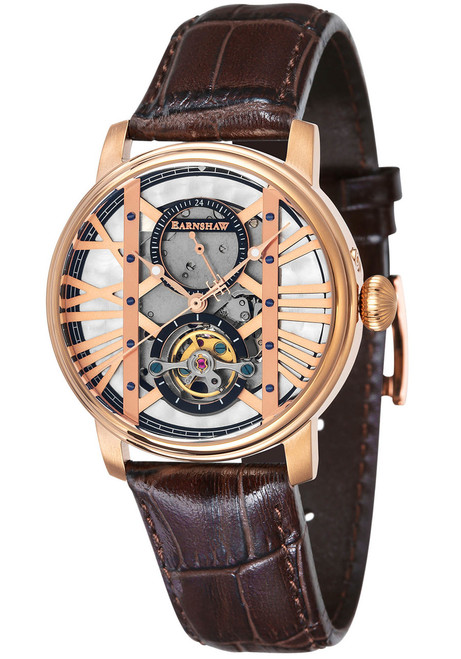 Thomas Earnshaw Westminster Automatic Rose Gold Brown