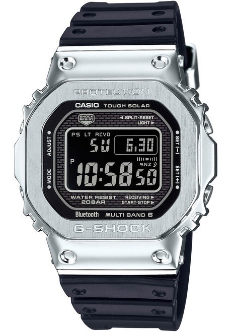 G-Shock GMW-B5000 Full Metal Connected Solar Silver Black (GMWB5000-1)