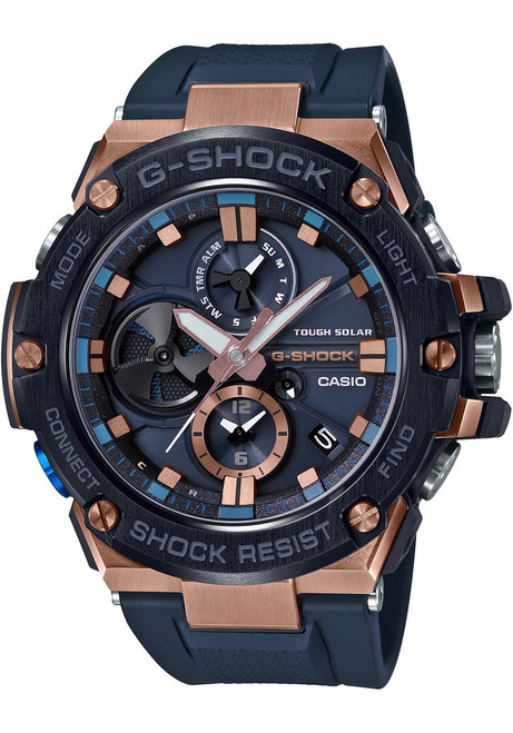 G-Shock G Steel Connected Solar Navy Rose Gold (GSTB100G-2A)
