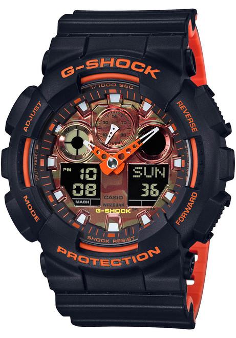 G-Shock GA-100 Black Orange (GA100BR-1A)