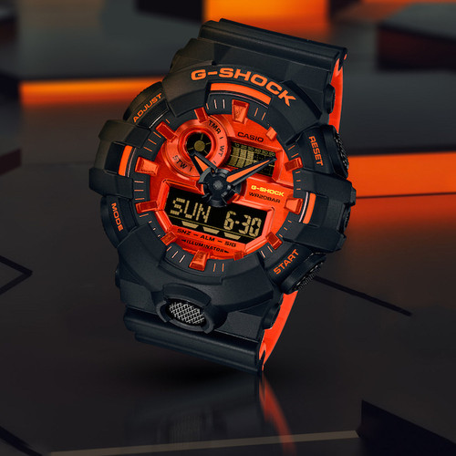G-Shock GA-700 Black Orange (GA700BR-1A)