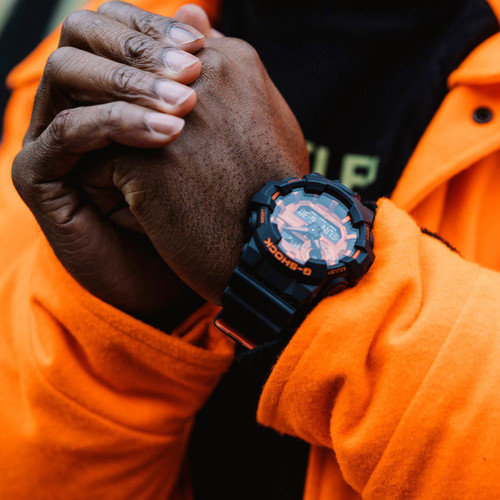 G-Shock GA-700 Black Orange (GA700BR-1A) wrist