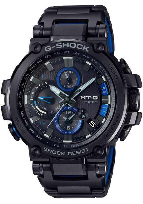 G-Shock MTG-B1000 Connected Solar Black Blue (MTGB1000BD-1A)