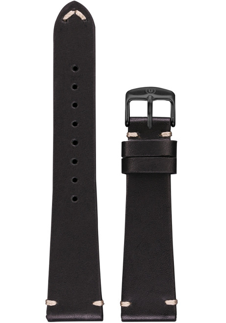 Undone Urban 20mm Black Calf Leather Strap Black Buckle (UCBLKBLK)