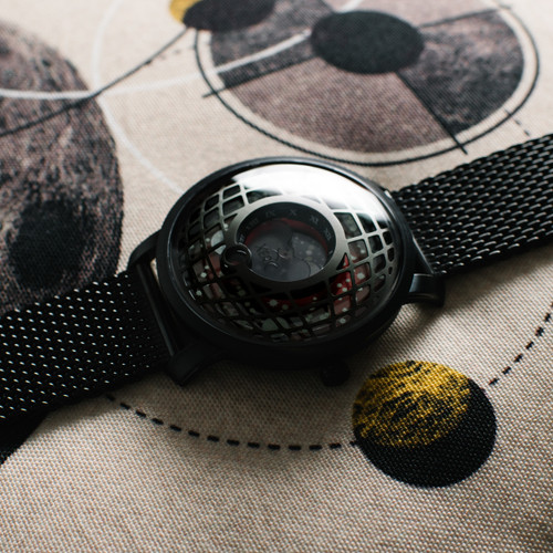 Xeric Trappist-1 Moonphase Gunmetal Red Mesh (TMP-3014-MESH)