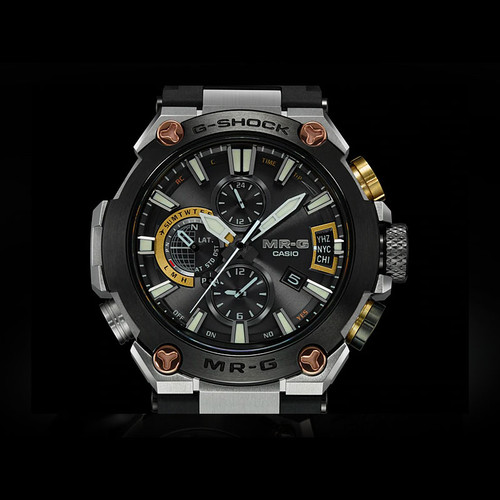 G-Shock MR-G Connected Solar Black Silver (MRGG2000R-1A)