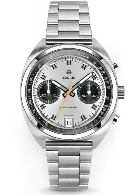 Zodiac ZO9600 Grandrally Chronograph SS Silver (ZO9600)