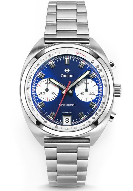 Zodiac ZO9601 Grandrally Chronograph Blue Silver (ZO9601)