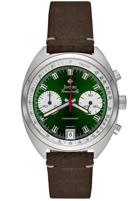 c0b0d63d2 Zodiac ZO9607 Grandrally Chronograph Green   Watches.com