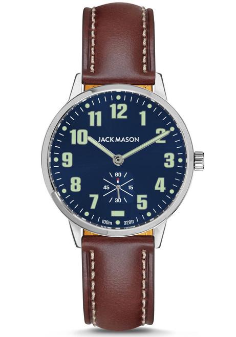 Jack Mason Field Sub Second Navy Brown (JM-F401-002) front