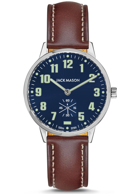 Jack Mason Field Sub Second Navy Brown (JM-F401-002) front