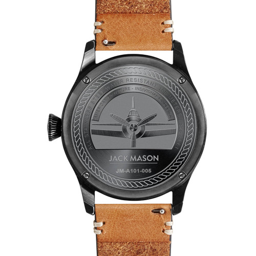 Jack Mason Aviation Black Tan (JM-A101-005) caseback
