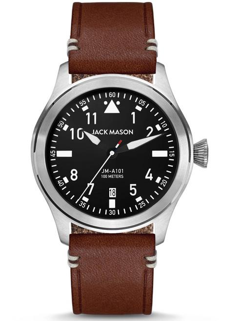 Jack Mason Aviation Silver Brown (JM-A101-002) front